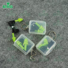 High quality Bulks silicone Earplugs with keychain