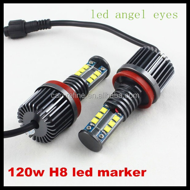120W 7000K White led angel eyes for BMW H8 LED Angel Eyes Ring Marker Light Bulbs For bmw 1 3 5 X Series