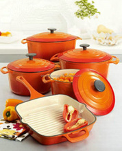 Enamel cast iron cookware set for kitchenware wholesale