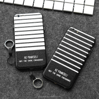 city&case Black and white stripes silicone cover for iPhone6 6s
