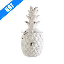 white glazed antique home decorative ceramic pineapple for sale