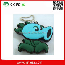 lovely pvc plant usb stick 64 gb, peashooter 100mb usb flash drive