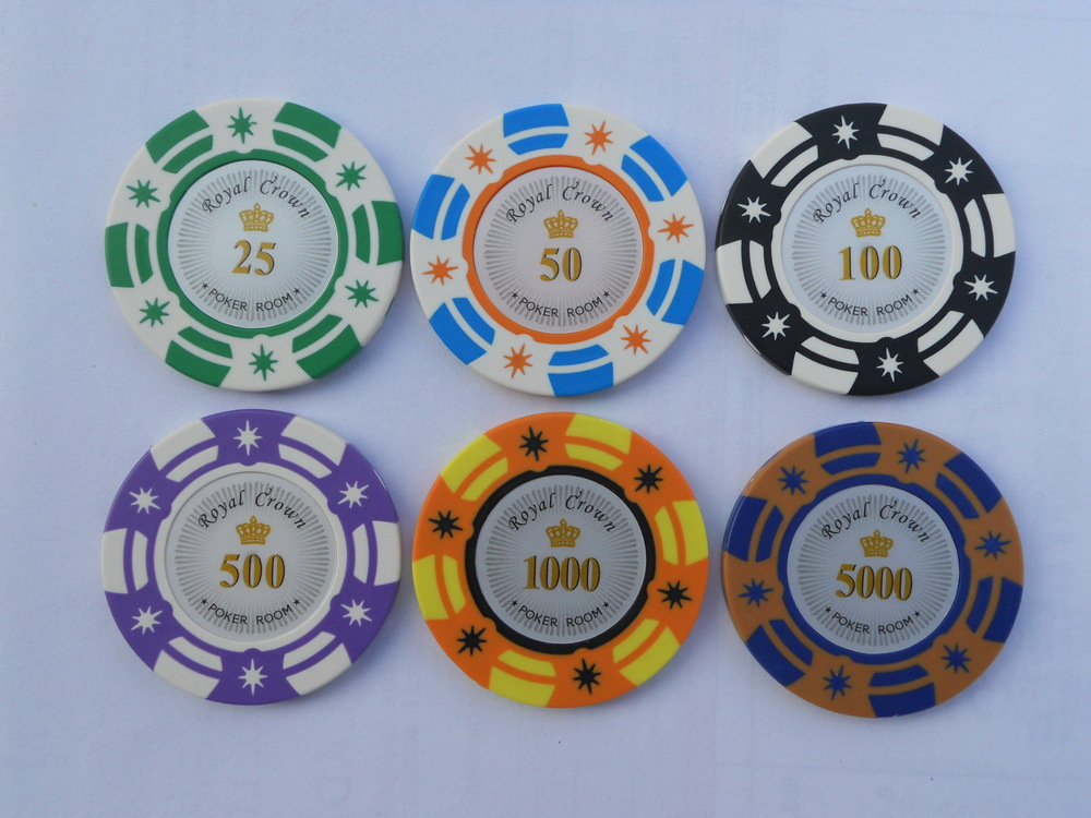 Two-tone or three tone options sticker poker chips,Custom souvenir poker chip