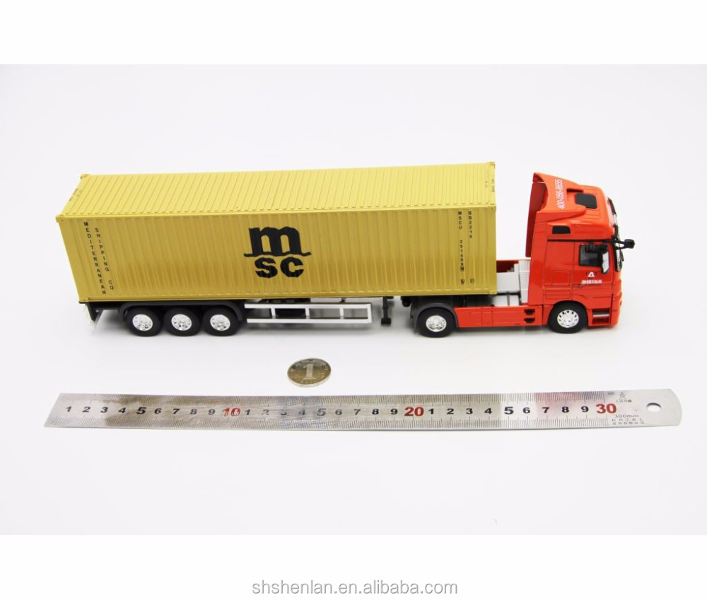 Mercedes-Benz metal 1:50 mini cargo container truck model