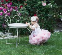 Baby Pettidress Super Soft Chiffon Baby TuTu Fluffy Girls Pink Tulle Pettiskirt
