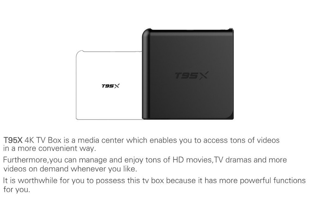 T95X google Amlogic S905X 1gb/8gb,2gb/8gb,2gb/16gb Quad Core Kodi Android 6.0 Marshmallow TV Box T95X