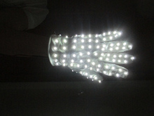 white LED light gloves for dancing