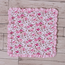 newest design baby flower design cotton kids hands embroidery handkerchief