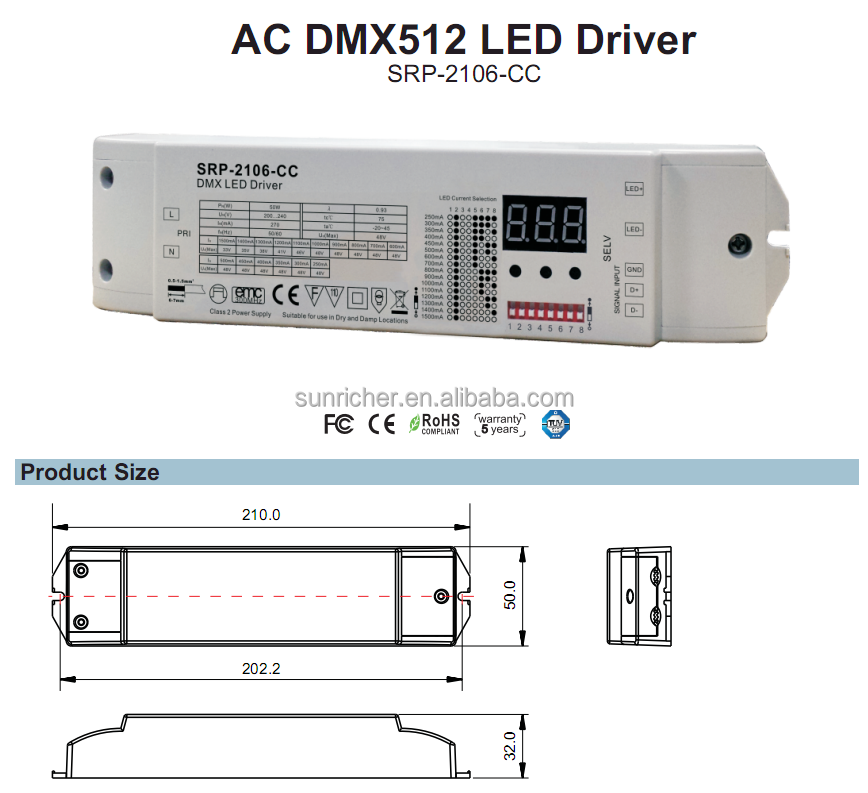 500ma constant current led driver SRP-2106-CC