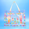 Alibaba supplier transparent PVC handbag, cheap fashion clear plastic hanbags
