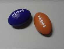 P004 Most Popular Logo Printed soccer shape PU Foam Stress Ball
