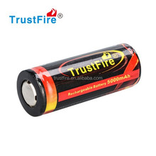 3.7v rechargeable battery 26650 battery,5000mah battery cell