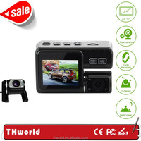 X2 full HD 1080P best Car DVR and car video camera with Dual lens hd mini camera