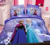 frozen bedding set kids 3d cartoon bed sheets duvet cover sets comforter sets
