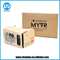 custom logo google cardboard v1 3d vr glasses promotion goods ad product