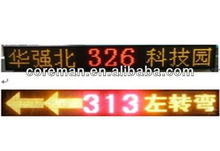 ali trade made in china low price mono single color p6mm,p7.62mm led car speed display / led display for car