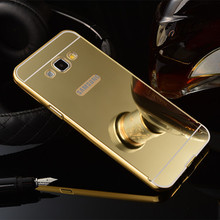 Metal Bumper Frame Case For Samsung Galaxy J1,Cellphone Case With Mirror