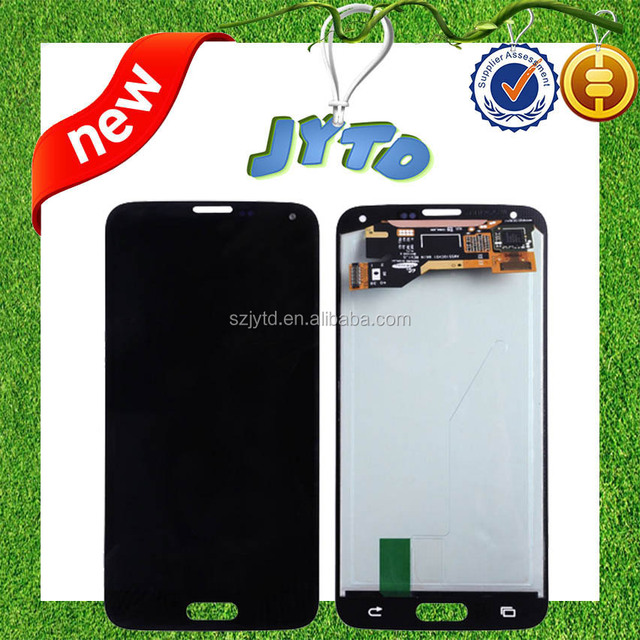 Hot sale good quality for samsung s5 cell phone parts lcd replacement(with home button)