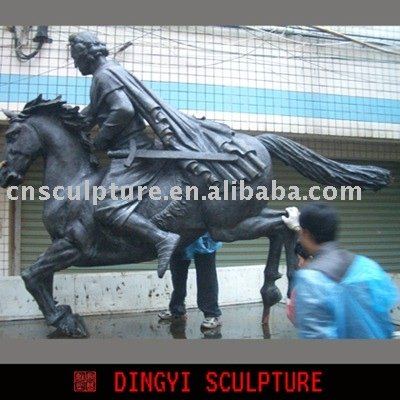 bronze sculpture, knight statue, figure statue