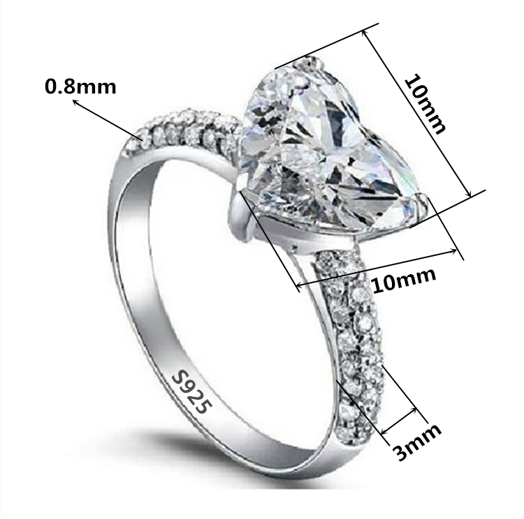 Factory Wholesale diamond heart rings