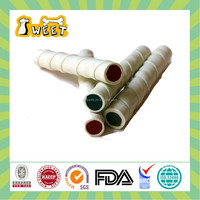 Hot selling white beef & cheese flavor filled twist stick dog dental chews