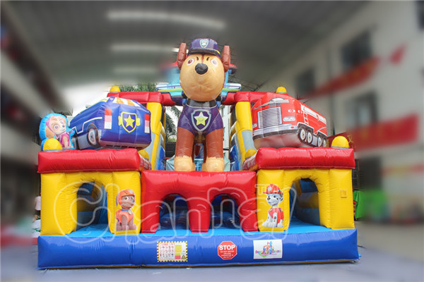 Garden student giant inflatable obstacle course for retail