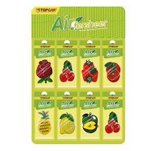 Random Fruit Scent Paper Perfumed Hanging Custom Air Freshener Car