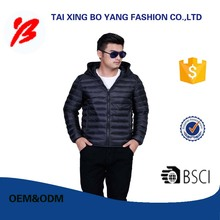 Customized light winter jacket for men wholesale
