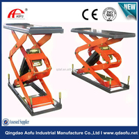 hydraulic small electric in-ground scissor lift