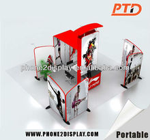 Modern and stylish simplicity exhibition stall design with fabric printing,International exhibition booth Fabric wall booth