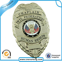 decoration metal tag custom sheriff badge