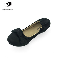 Casual Design Flats Style Roll up foldable Ballerina Shoes for ladies