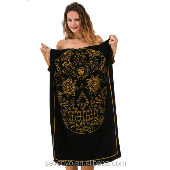 Jacquard Sugar Skull Beach Towel Pool Towel Luxury Gift BT-182