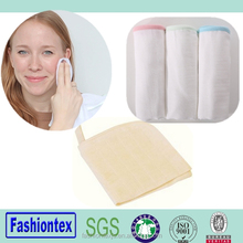 Eco-friendly bamboo organic muslin face cloth washer