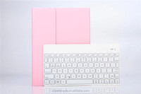 2-in-1 Aluminium Folio Bluetooth Keyboard Protective Case Cover With Colorful Backlit Light for Apple iPad Air 2/ iPad 6