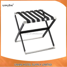 High quality durable Leather Stainless steel luggage rack