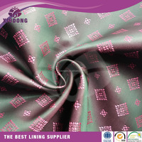 polyester satin printting lining fabric custom logo