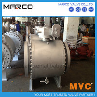 Hot sale quick installation and free maintenance oil&gas pipeline trunnion type standard api6d ball valve