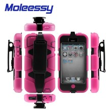 Heavy Duty Shock Proof Tough Moblie Phone Case For iPhone 5C + Belt Clip Holster