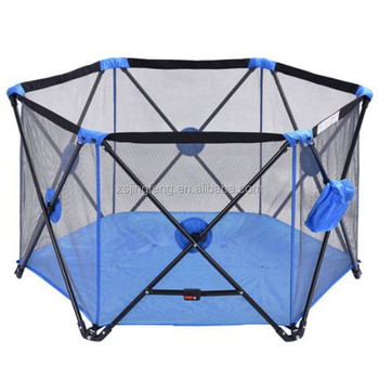Indoor and Outdoor Pop Up Playpen Portable play yard Blue