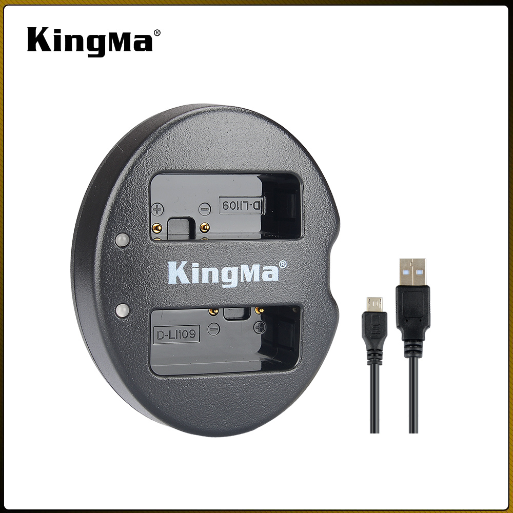 Kingma Dual USB Charger for Pentax D-Li109 and Pentax K-R K-30 K-50 K-500 K-S1 K-S2