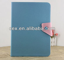 For Samsung Galaxy Tab 3 10.1 P5200 Dual Color Blue PU Leather Stand Case
