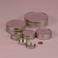 High quality small shallow round decorative candle tins wholesale