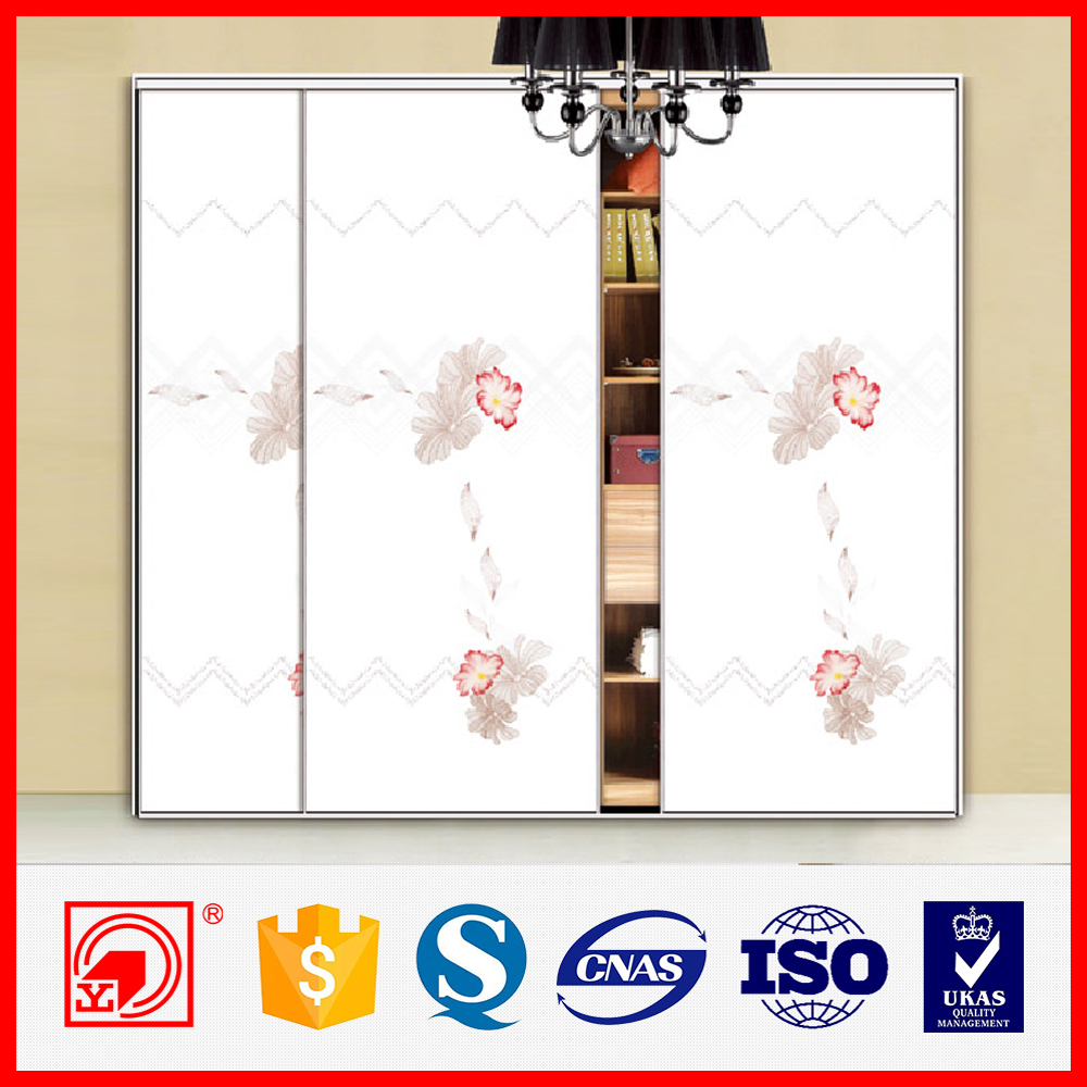 Cheap closet glass wardrobe sliding doors bedroom wardrobe for Cheap glass doors