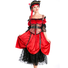 Classic Pirates of the Caribbean Costume for Adult Women Halloween Cosplay