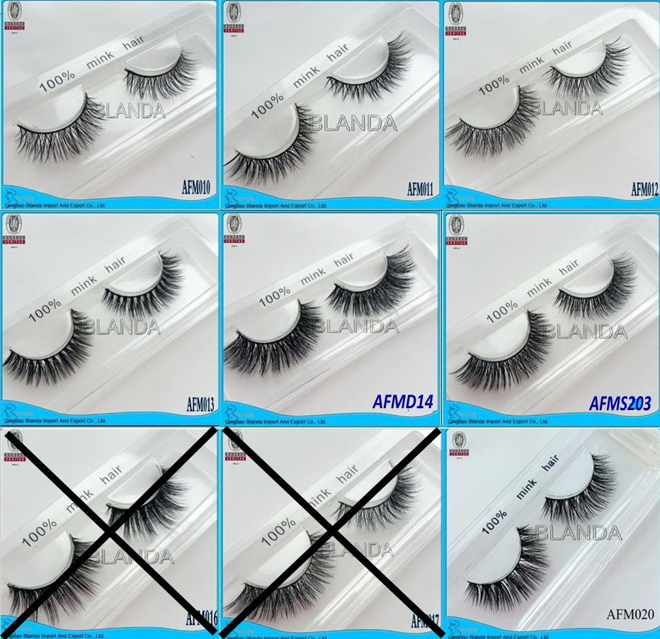 2016 New Arrival 3d Mink Fur Eyelash Real Mink Eyelashes Siberian Mink Lashes