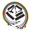 Heavy Duty Workout Fitness Exercise 10 to 30 lbs Strenth 11pcs Resistance Band