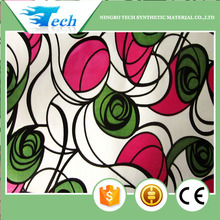 2015 fashion design pu flocking with printing upholstery fabric for sofa cover, cushion cover