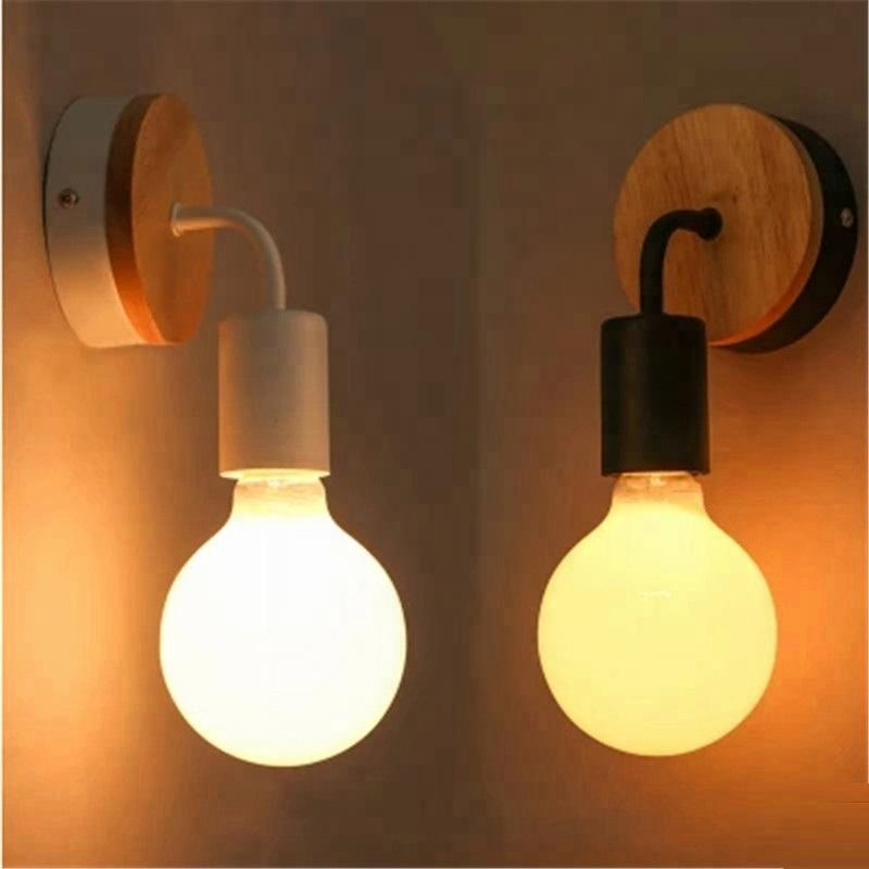 Wholesale Indoor Designs Hotel Fixtures Bathroom Modern Led E27 Bulb Wall Sconce Lamps