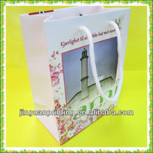 Printing OEM paper shopping bag with PP string